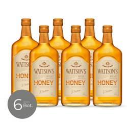 WATTSONS - Whisky Honey 35 gr 700 cc x 6 Unidades