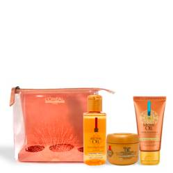 LOREAL PROFESSIONNEL - Set Mythic Oil Shampoo 75ml + Máscara 75ml + Crema Universal 50ml + Estuche