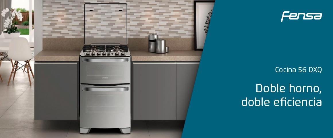 Doble horno, doble eficiencia con la cocina 56 DXQ de Fensa