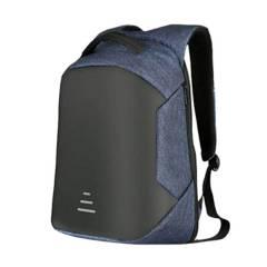 GENERICO - Mochila Antirrobo Impermeable Con USB Azul