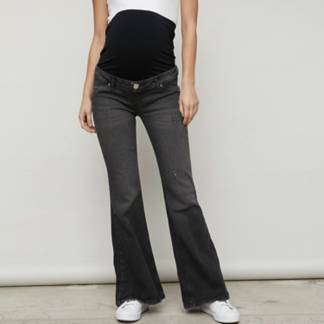 UNIVERSITY CLUB - Jeans maternal flare pretina alta