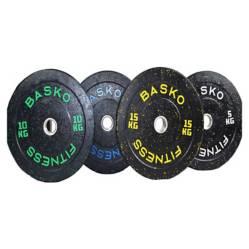 BASKO FITNESS - Bumper Plate Discos Olimpicos Pack 100 Kg