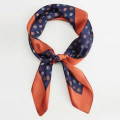 MANGO - Pañuelo Estampado Geométrico Corbata Mujer
