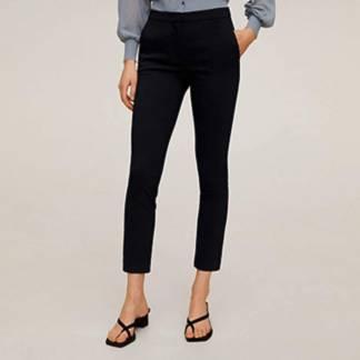 MANGO - Pantalón Skinny Crop Tiro Medio Cola Mujer
