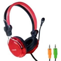Audífonos con Control de Volumen Pc Ps4 Rojo