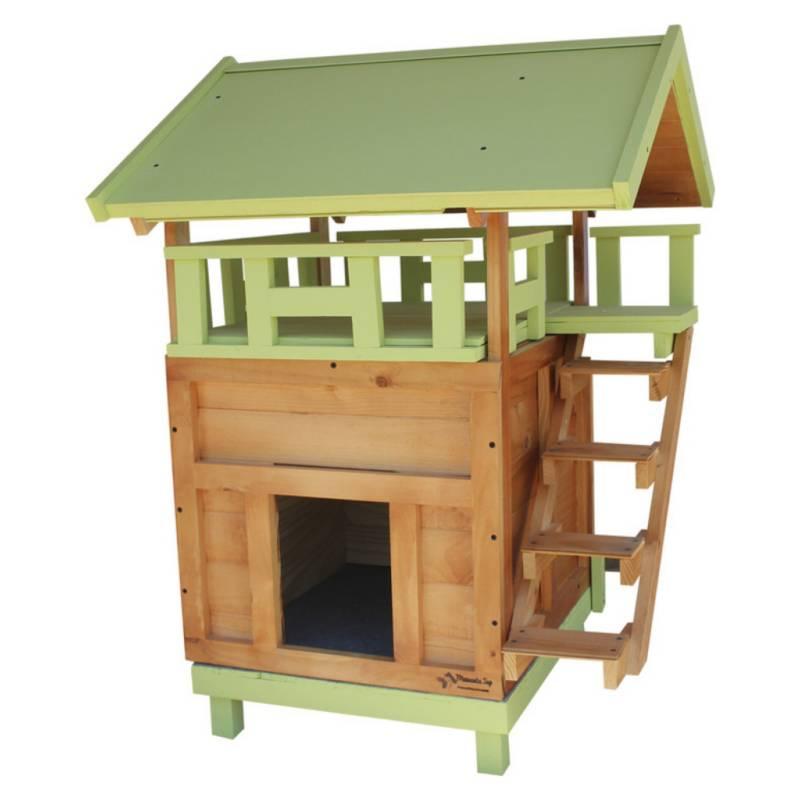 MASCOTATOP - Casa para Gato Mediana con Terraza