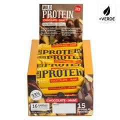 WILD FOODS - Protein Chocolate-Maní 16 Unidades 45 Gr