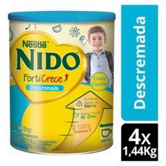 NIDO - Leche Nido Forticrece Descremada 1.440g Tarro X4