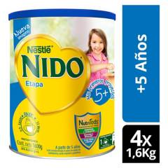 NIDO - Leche Nido 5  Protectus Tarro 1600g  Tarro X4