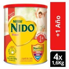 NIDO - Leche Nido 1  Protectus 1600g Tarro X4