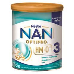 NAN - Leche Nan 3 Opti-Pro con Hmo 800G Pack X6 Tarros
