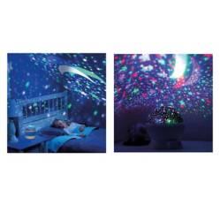 Lámpara Nocturna con Proyección de Estrellas