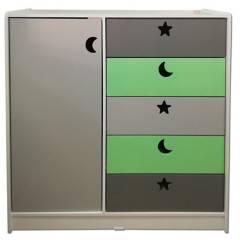 MUEBLES KIDS - MKMini Closet Verde Gris