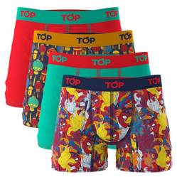 Top - Pack de 4 Boxer de Algodón Hombre
