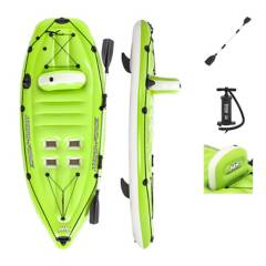 BESTWAY - Kayak de Pesca Inflable Koracle Verde