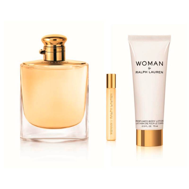 RALPH LAUREN - Set Perfume Mujer Woman EDP 100 ml + Body Lotion 75 ml + 10 ml