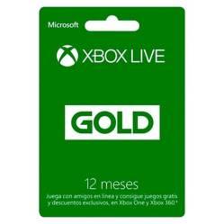 Tarjeta Xbox Live Gold Tarjeta 12 Meses Chile
