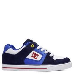 Dc - Pure B Shoe Nrd Zapatilla Urbana Niño Cuero Azul