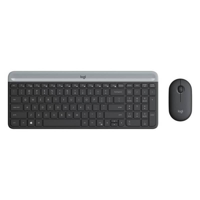 Logitech - Combo Teclado  Mouse Logitech Mk470 Negro