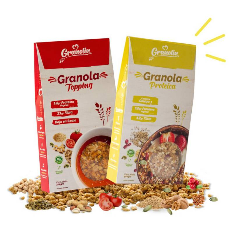 GRANOLIN - Pack Duo Granola - Topping + Proteica