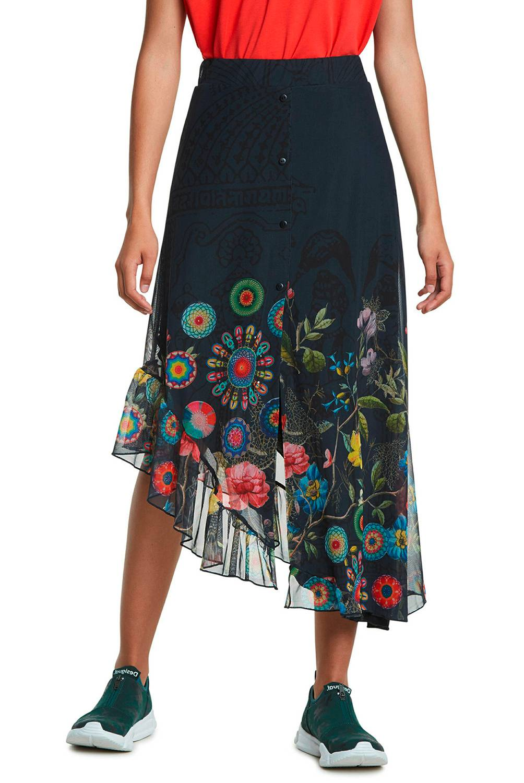 DESIGUAL - Falda Maxi Mujer