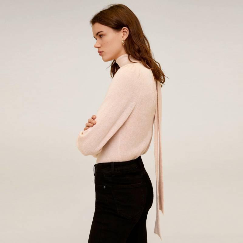 Mango - Sweater Cuello Alto Detalle Lazo Sunset Mujer