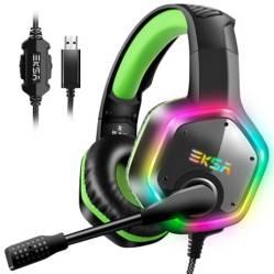 EKSA - Audífonos Gamer Eksa E1000 Verde