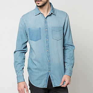 Camisa Denim Manga Larga