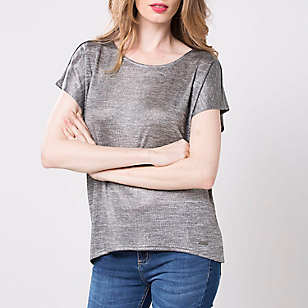 POLERA LISA MC POM215ZH GREY SAS S