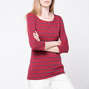 POLERA LISA ML  BSCBC15 STRIPES3 S