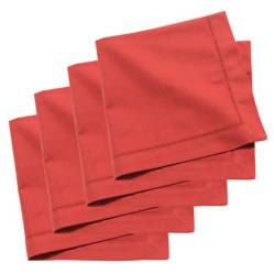 Servilletas Solid Light Red