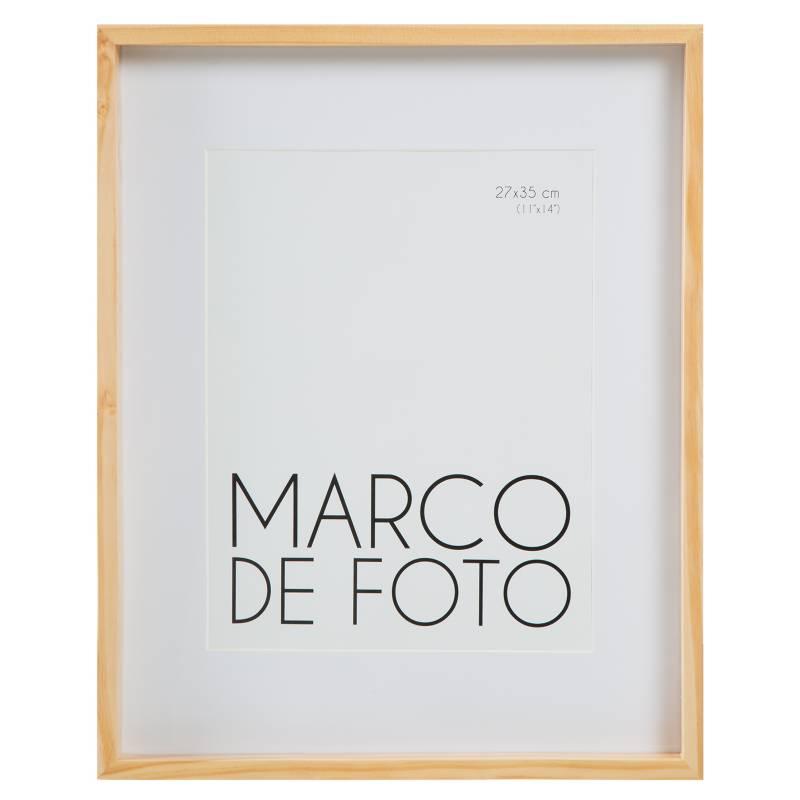 Mica - MFOTO LAQUEADO PASPARTU NAT 27X35