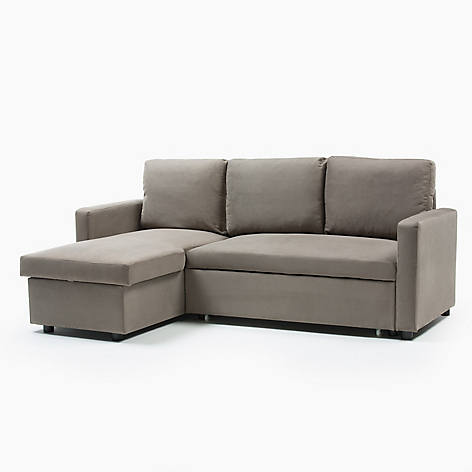 Mica sof cama 3 cuerpos tela elina for Sofa cama 2 plazas falabella