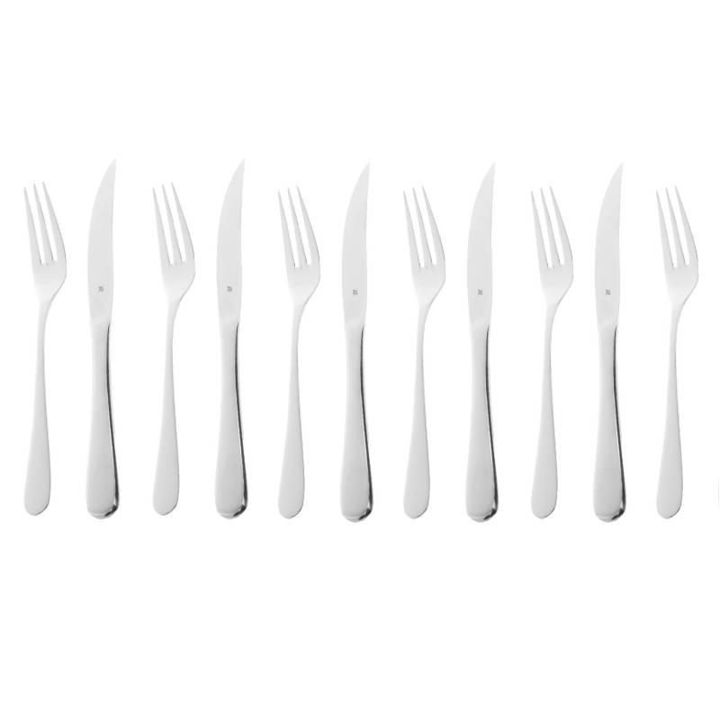 WMF - Set 6 Cuchillos Y 6 Tenedores Steak