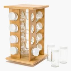 Mica - Rack 16 Especieros Bamboo