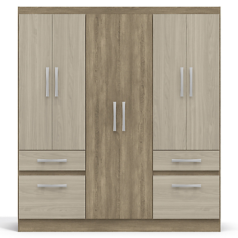 Mica cl set isola 6 puertas 2 cajones 3 zapateras bicolor for Closet grande oferta