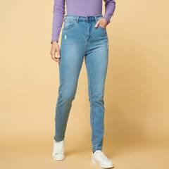 NEWPORT - Jeans Skinny Tiro Alto Mujer