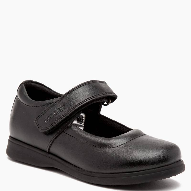 Holley - Zapato Escolar Niña Cuero Negra