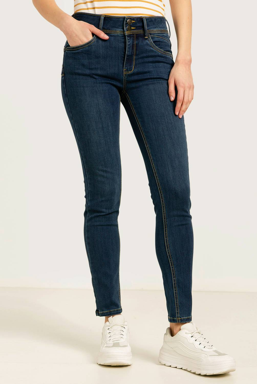 ELLE - Jeans Skinny Push Up Mujer
