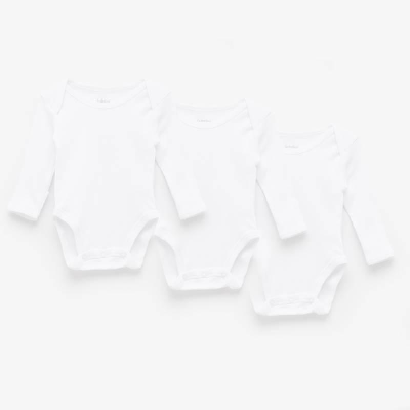 Yamp - Pack 3 bodies algodón blanco bebé