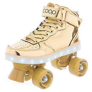 Patines con Luces LED Dorado