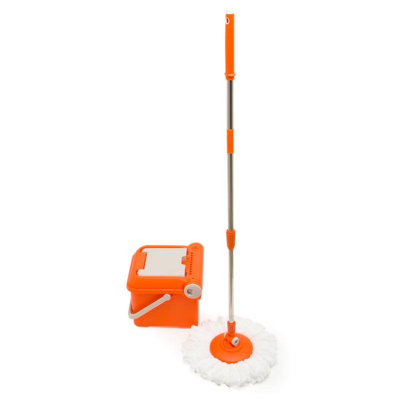 Tvalue - Sistema de Limpieza Spin Mop Naranjo