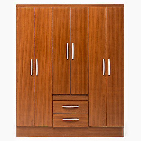 Mica cl set canela 6 puertas 2 cajones for Closet para ninos madera