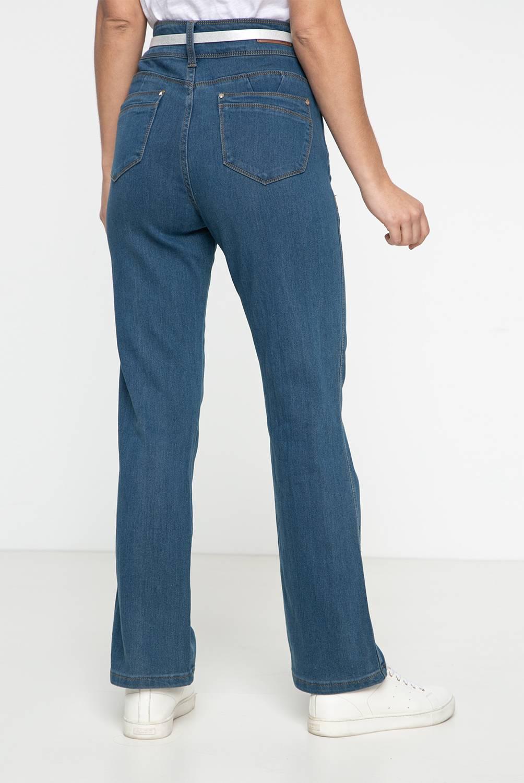 NEWPORT - Jeans Recto Tiro Alto Mujer