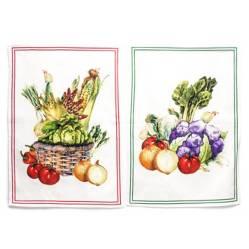 Roberta Allen - Set x 2  Paños de Cocina 38x64 cm Verduras