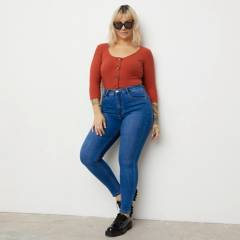 AMERICANINO - Jeans Skinny Tiro Alto Mujer