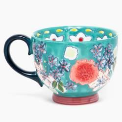 Mug 15 cm Flori Turqueza