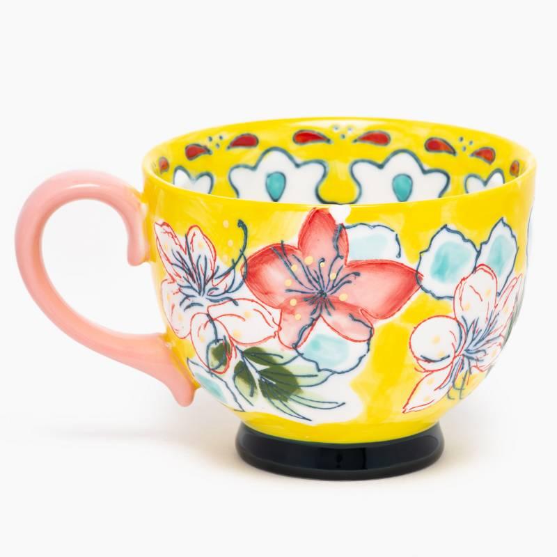 ROBERTA ALLEN - Mug 15Cms Flori Amarillo