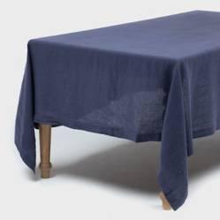 Mantel Lino Azul180X350