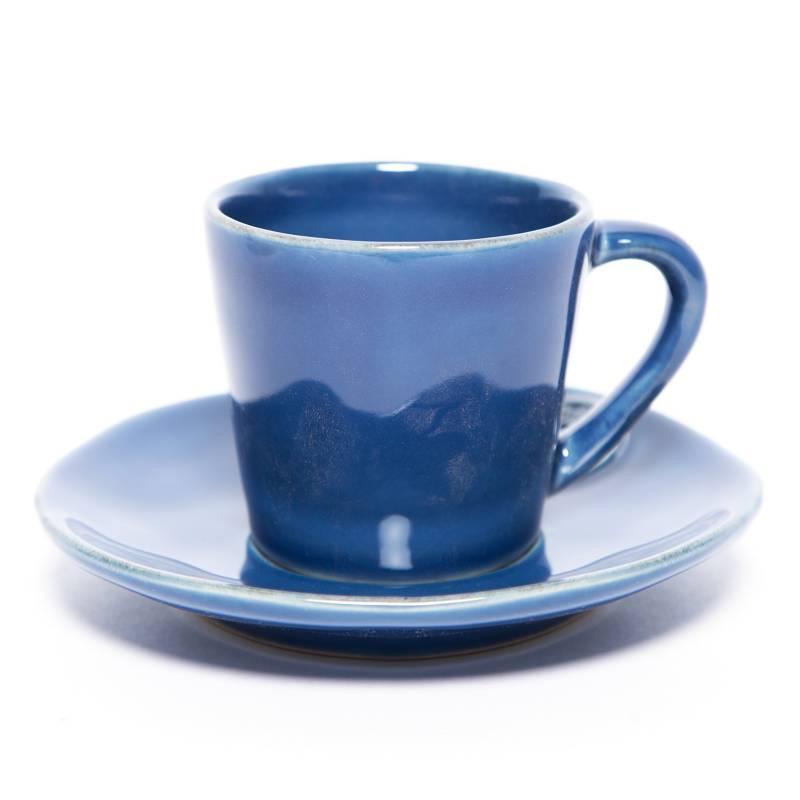 COSTA NOVA - Taza Café más Plato Azul